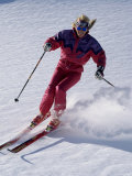 Swiftly Moving Skier Photographic Print
