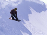 Snowboarder, Snow and Shadows Photographic Print
