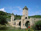Pont Valentre and Lot River, Cahors, Lot Region, France Photographic Print