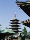 Asakusa Kannon Temple, Tokyo, Japan Lámina fotográfica