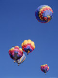 Colorful Hot Air Balloons in Sky, Albuquerque, New Mexico, USA Photographic Print