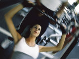 Strength Training with Spotter Photographic Print