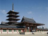 Pagoda, Shitennoji Temple, Osaka, Honshu, Japan Photographic Print
