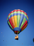 Colorful Hot Air Balloon in Sky, Albuquerque, New Mexico, USA Photographic Print