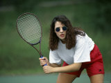 Tennis Player in Sunglasses Photographic Print