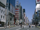 Shoppers, Street Scene, Ginza, Tokyo, Honshu, Japan Photographic Print