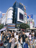 Shoppers, Crowd, Shibuya, Tokyo, Honshu, Japan Photographic Print