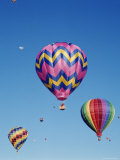 Colorful Hot Air Balloons in Sky, Albuquerque, New Mexico, USA Photographic Print