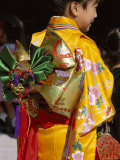 Tied Silk Sash (Obi), Kimono, Traditional Dress, Japan Photographic Print