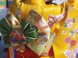 Tied Silk Sash (Obi), Kimono, Traditional Dress, Japan Photographic Print