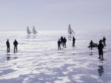 Ice Sailing Photographic Print