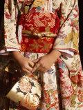 Kimono and Handbag, Traditional Dress, Japan Lámina fotográfica