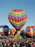 Colorful Hot Air Balloons, Albuquerque Balloon Fiesta, Albuquerque, New Mexico, USA Fotografie-Druck