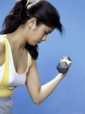 Strength Training with Hand Weights Photographic Print