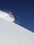 A Blur of Snow and Skis Photographic Print
