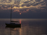 Sailboat at Sunset Photographic Print