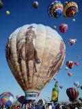 Colorful Hot Air Balloons, Albuquerque Balloon Fiesta, Albuquerque, New Mexico, USA Photographic Print