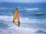 Person Windsurfing Photographic Print