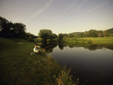 Fishing in a Peaceful Setting Photographic Print