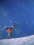 Skier from Below Photographic Print