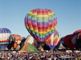 Colorful Hot Air Balloons, Albuquerque Balloon Fiesta, Albuquerque, New Mexico, USA Photographic Print