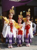 Girls Dressed in Traditional Costume, Festival of the Ages (Jidai Matsuri), Kyoto, Honshu, Japan Photographic Print