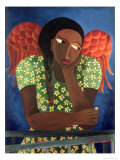 Black Girl with Wings Giclee Print by Laura James