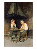 The Cobbler's Shop, 1874 Giclee Print by Giuseppe Costantini