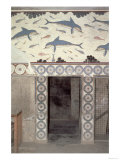 The Dolphin Frescoes in the Queen's Bathroom, Palace of Minos, Knossos, Crete, 1600-1400 BC Giclee Print