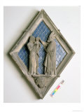 The Baptism, Relief Tile from the Campanile Giclee Print by Maso di Banco