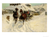 The Sleigh Ride, 1896 Giclée-Druck von Jaroslav Fr. Julius Vesin