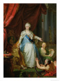 Allegorical Portrait of Catherine II, Empress of Russia Giclee Print by Johann Baptist Lampi