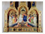 The Coronation of the Virgin Giclée-tryk af Lorenzo Monaco