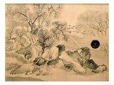 Landscape Panels Giclee Print by Yosa Buson
