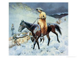 On the Trail Giclee Print by Frederic Sackrider Remington