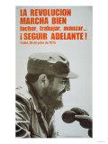 Poster Featuring Fidel Castro, 1975 Giclee Print