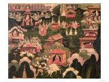 Parinirvana and the Death of Buddha, from The Life of Buddha Sakyamuni. Giclee Print