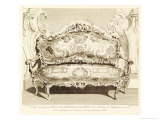 Sofa, Messioner, Juste Aurele Giclee Print by Juste Aurele Meissonnier