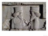 Two Dignitaries, from the Northern Wing of the Apadana East Stairway Facade, 500-480 BC Giclee Print by  Achaemenid