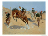 Turn Him Loose, Bill, c.1893 Giclee Print by Frederic Sackrider Remington