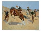 Turn Him Loose, Bill, c.1893 Giclee Print by Frederic Sackrider Remington