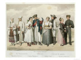 Costumes of Peasants From Giclée-Druck von H. Veber