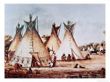 Village of the Kiowa Tribe Giclee Print by Baldwin Mollhausen