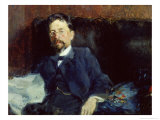 Portrait of Anton Chekhov Giclee Print by Peter Alexandrovich Nilus