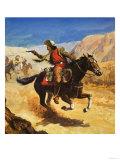 The Pony Express Giclée-Druck