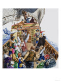 Onboard the Mayflower Giclee Print