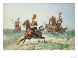 12th Royal Lancers Giclee Print by Orlando Norie