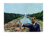 The Memorial Speech, 2001 Giclee Print by Colin Bootman