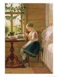 Girl Peeling Berries, 1880 Giclee Print by Nikolai Mikhailovich Bykovsky