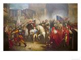 Entry of Charles VIII Giclee Print by Giuseppe Bezzuoli